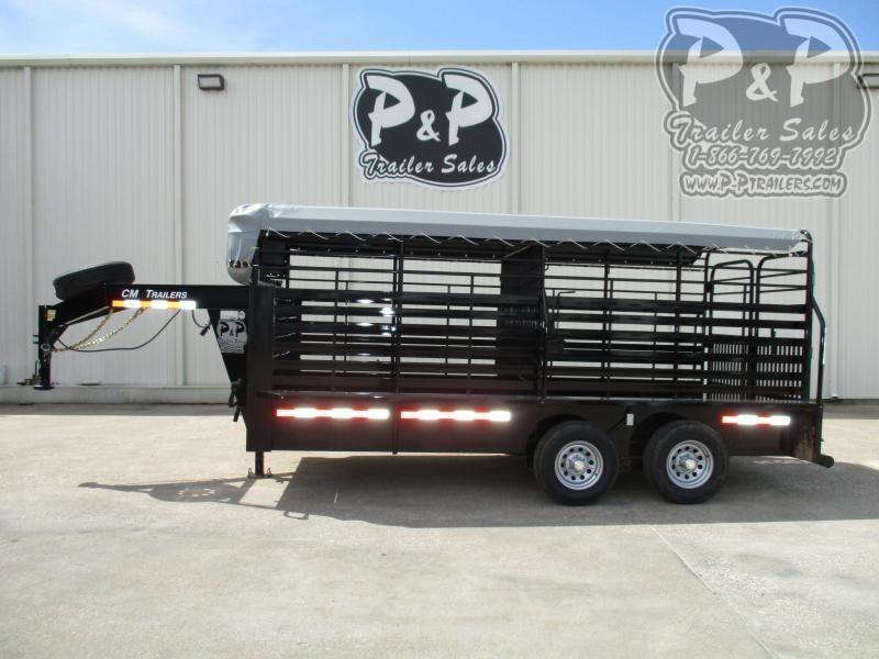 2020 CM Brush Buster 16 x 68 x 6'6 16 ft Livestock Trailer