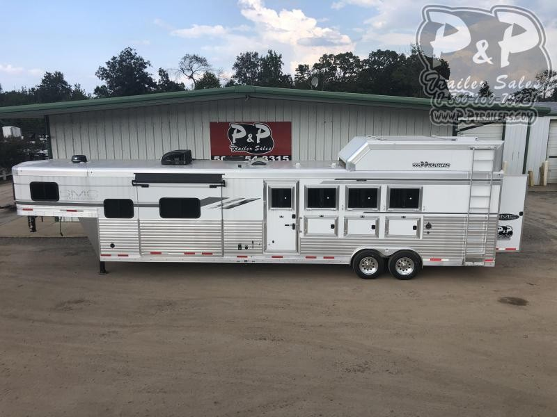 2021 SMC Horse Trailers SL8413SSRRSL 4 Horse Slant Load Trailer 13 FT LQ With Slides w/ Ramps