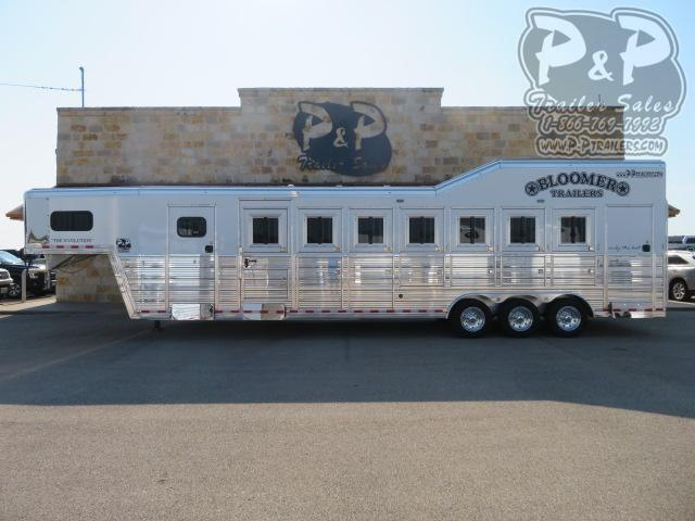 2021 Bloomer Super Tack Trainer 7 Horse Slant Load Trailer w/ Ramps