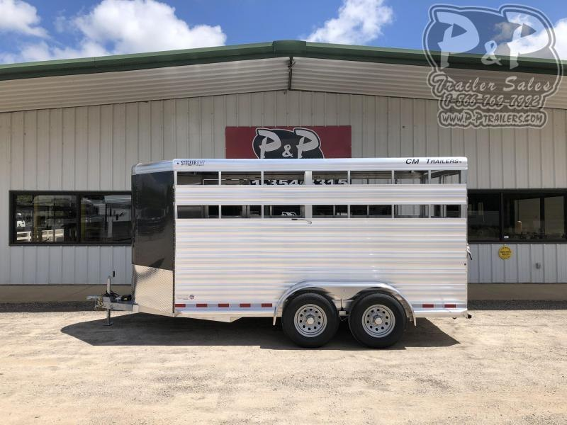 2021 CM Stocker AL-V 16 ft. 6' 8 Horse Straight Load Trailer