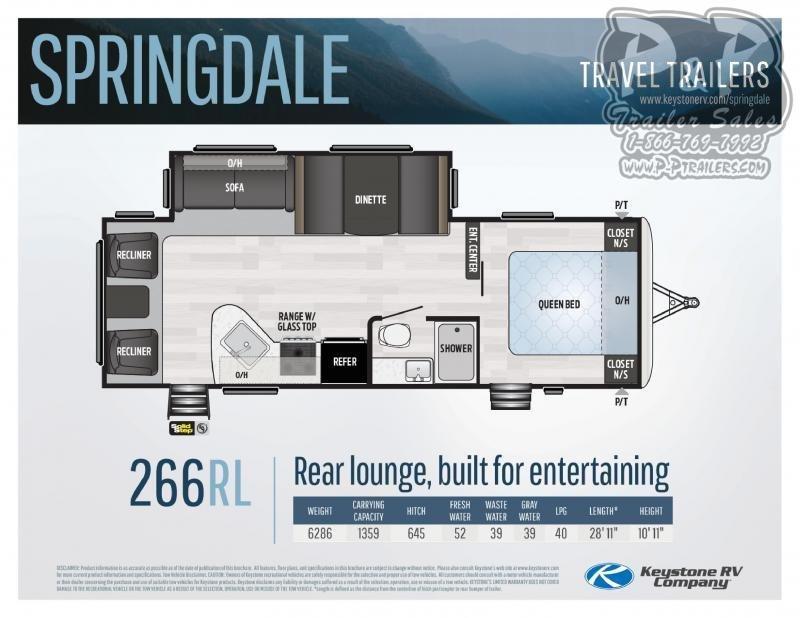 2021 Keystone RV Springdale 266RL Travel Trailer RV