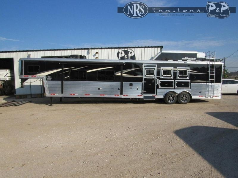 2022 Bison Trailers Premiere 8317PRDS 3 Horse Slant Load Trailer 17 FT LQ With Slides