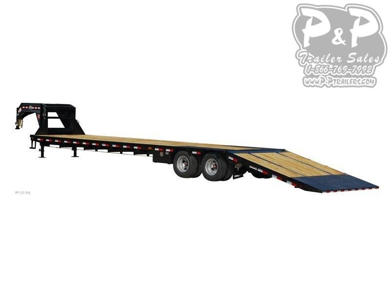 2021 PJ Trailers Low Pro with Hydraulic Dove (LY) 32' Flatbed Trailer