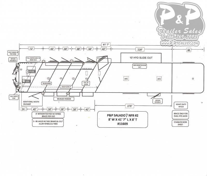2021 Bloomer 8519PCOL PC Outlaw Conversion 5 Horse Slant Load Trailer 19 FT LQ w/ Slide
