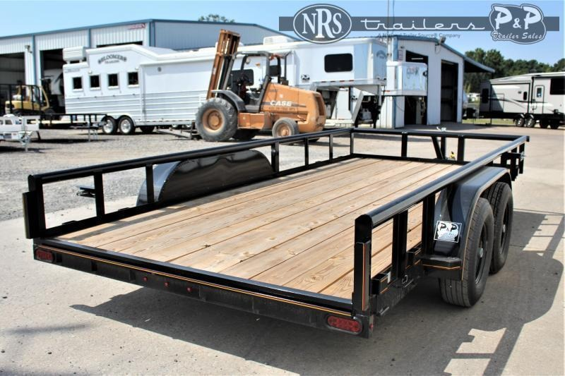 """2021 P and P PPTA16X83MDSRPT 83"""" x 16 ' Utility Trailer"""