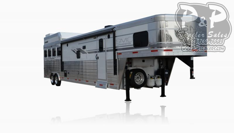 2021 SMC Horse Trailers SL8X16SSR LARAMIE Horse Slant Load Trailer 16 FT LQ With Slides