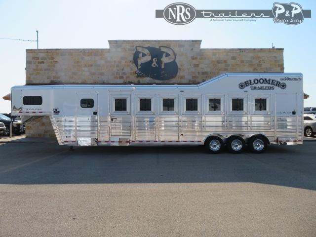 2021 Bloomer 87TRN Super Tack Trainer 7 Horse Slant Load Trailer