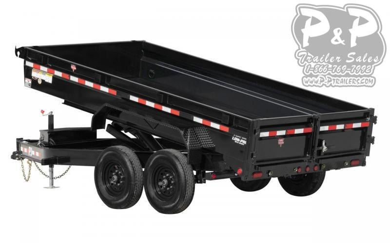 2021 PJ Trailers 14K Low-Profile Dump (DG) DGA1492BSSK 14 ' Dump Trailer