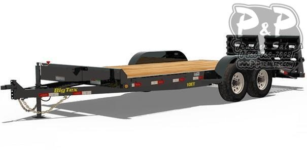 2021 big tex trailers 10et 16kr 16 equipment trailer  p and