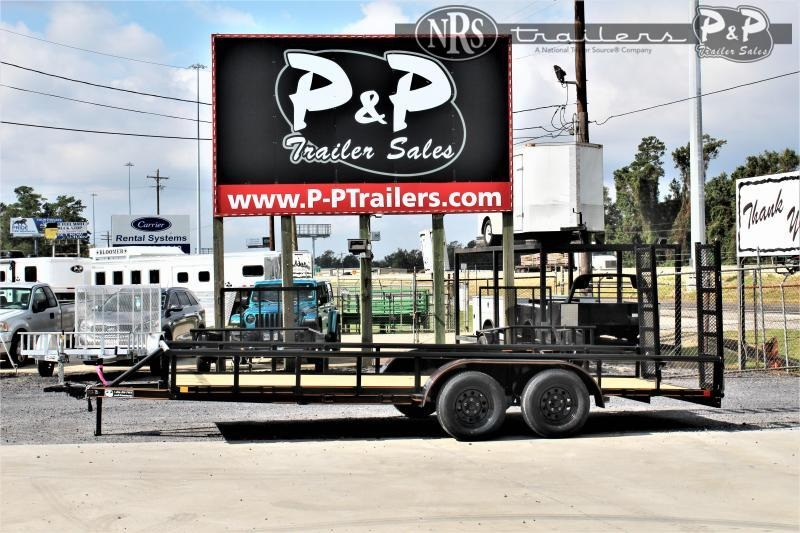 "2021 P and P PPTA18X83GDFURPT 83"" x 18 ' Utility Trailer"
