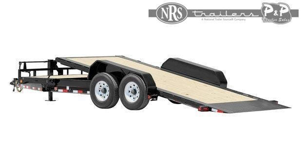 2021 PJ Trailers HD Tilt 6 in. Channel TJT24K2BTTK-TBTL 24 ' Flatbed Trailer