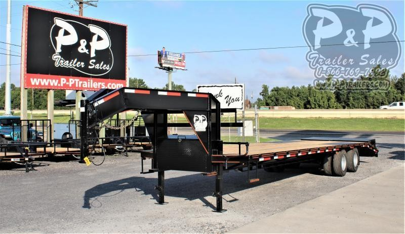 2021 P and P PPDT27 5X102 32 Flatbed Trailer