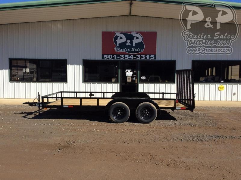 2021 Wicked Trailer Manufacturing Economy UT8216TA-E 16 ' Utility Trailer