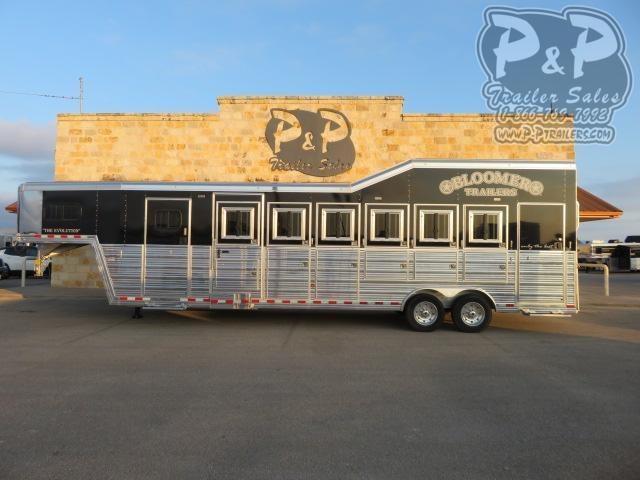 2020 Bloomer 86TRNS Super Tack 6 Horse Slant Load Trailer w/ Ramps
