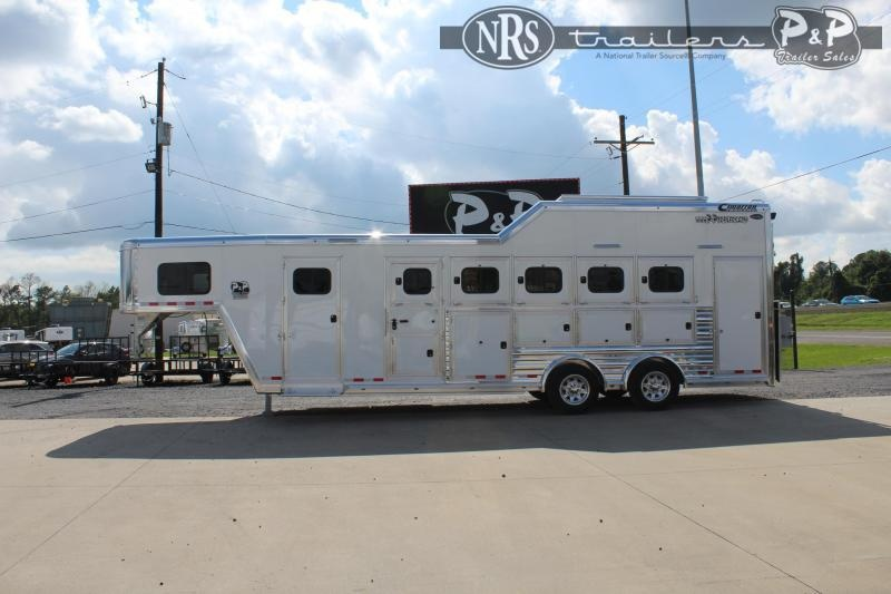 2022 Cimarron Trailers 765GN 5 Horse Slant Load Trailer w/ Ramps