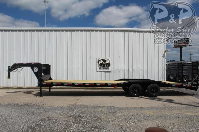 """2021 P and P PPGNEQ30X102HDFUR10K *** 30' (27+3) X 102"""" Drive Over Fender*** 360 """" Flatbed Trailer"""