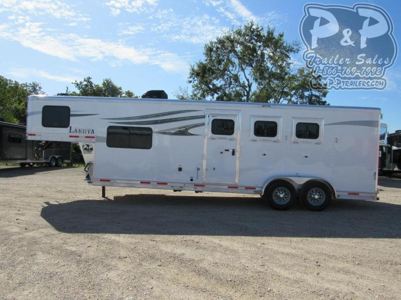 2021 Lakota Charger C39NS 3 Horse Slant Load Trailer 9 FT LQ