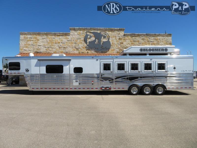 2021 Bloomer 8516PCOL 5 Horse Slant Load Trailer 16 FT LQ w/ Slideouts