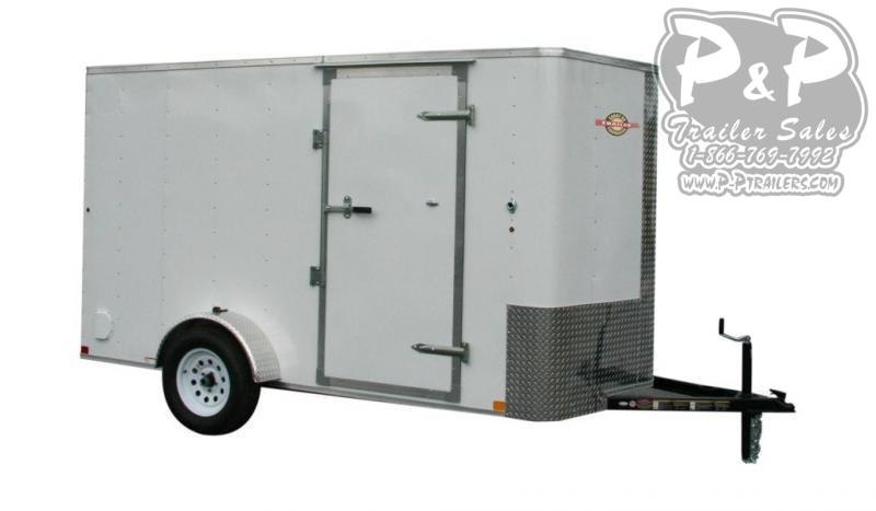 """2021 Carry-On Cargo Trailers 6X12CGRBN 144 """" Enclosed Cargo Trailer"""