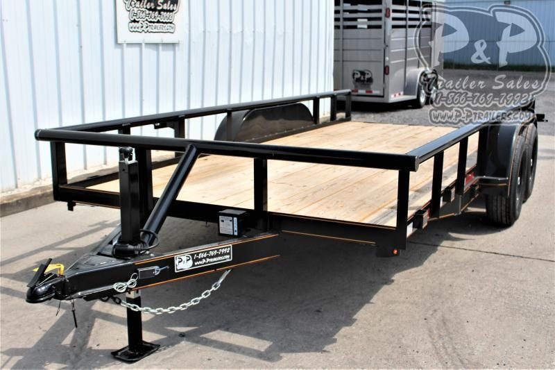 "2021 P and P PPTA16X83MDSRPT 83"" x 16 ' Utility Trailer"