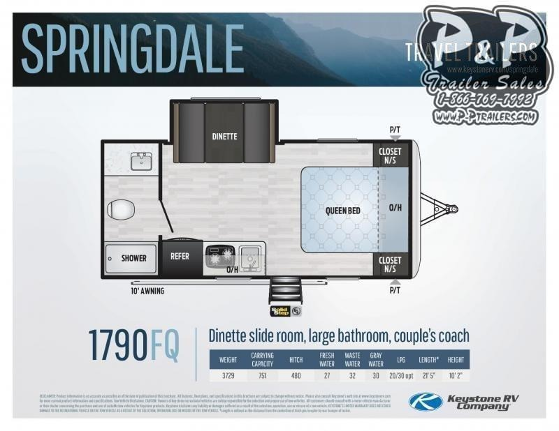 2021 Keystone RV Springdale Mini 1790FQ Travel Trailer RV