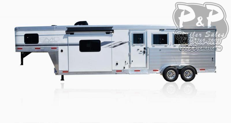 2021 SMC Horse Trailers SLX11SRK LARAMIE 3 Horse Slant Load Trailer 11 FT LQ With Slides