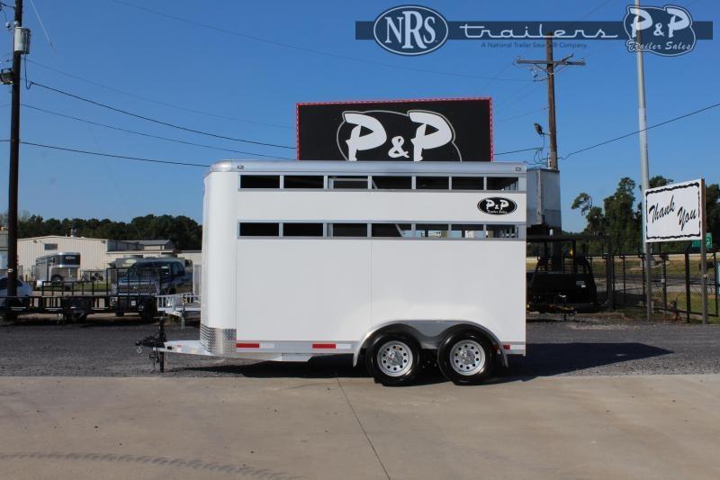 2022 P and P 60136STK-2SL-BP 2 Horse Slant Load Trailer