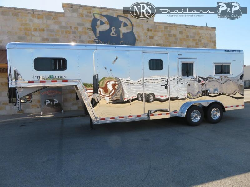 2021 Bloomer B2+1GS227 2 Horse Straight Load Trailer