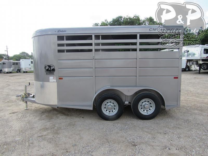 2021 CM Dakota 2 Horse 14' x 6' x 6'6 2 Horse Slant Load Trailer