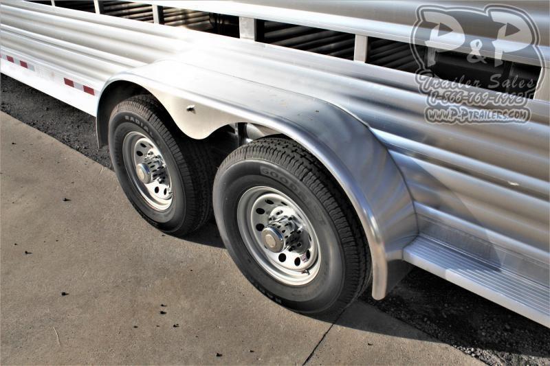 "2021 CM CMS2040-2470 Roundup AL 80"" x 24 ' Livestock Trailer"