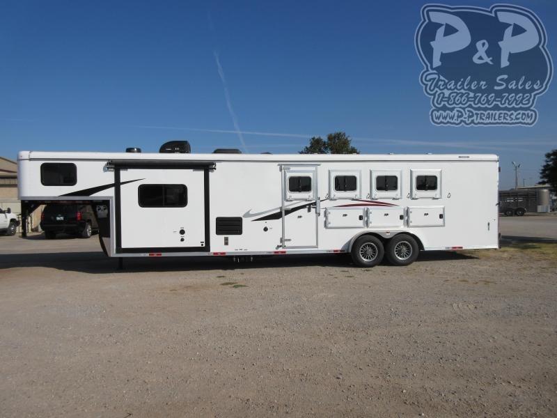 2021 Bison Trailers RC7411.S 4 Horse Slant Load Trailer LQ With Slides