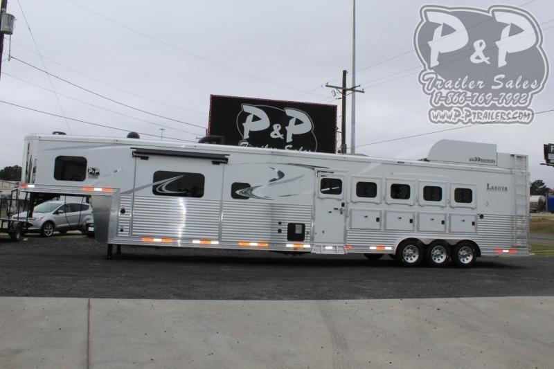 2021 Lakota Bighorn BH8515TDSRKRSL 5 Horse Slant Load Trailer 15 FT LQ With Slides w/ Ramps