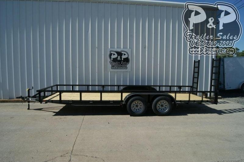 "2021 P and P PPTA20X83MDFURPT 83"" x 20 ' Utility Trailer"