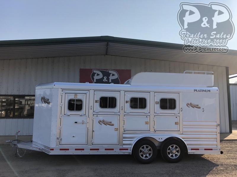 2021 Platinum Coach 84HBP 4 Horse Slant Load Trailer