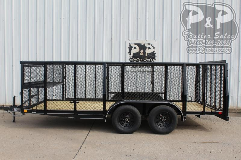 "2020 P and P PPTA16X83GDLAND ***83"" x 16'*** Landscape Utility Trailer"