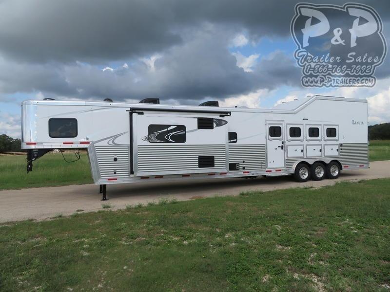 2021 Lakota Bighorn BH8419 4 Horse Slant Load Trailer 19 FT LQ With Slides w/ Ramps