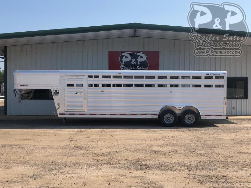 2020 Platinum Coach 8x24x6'6 24 ft Livestock Trailer