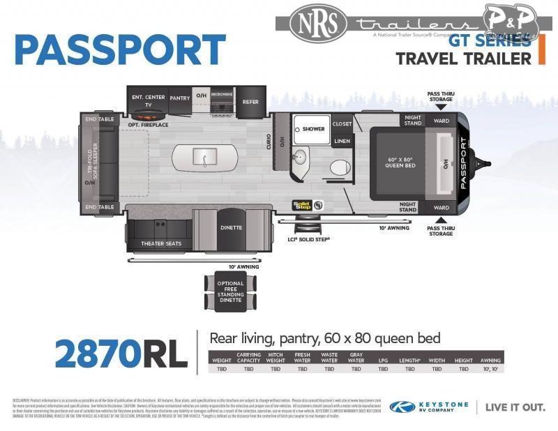 2022 Keystone RV Passport 2870RL 32 ' Travel Trailer RV