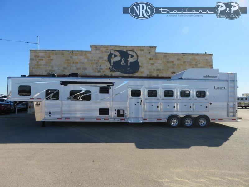 2020 Lakota Bighorn BH8516TSR 5 Horse Slant Load Trailer 16 FT LQ w/ Slideouts