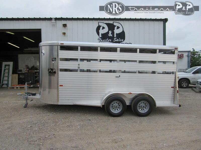 2021 W-W Trailer Alum Stocker 6x16 16 ' Livestock Trailer
