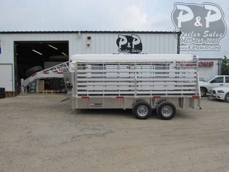 2020 W-W Trailer Aluminum Roustabout 16 ft Livestock Trailer