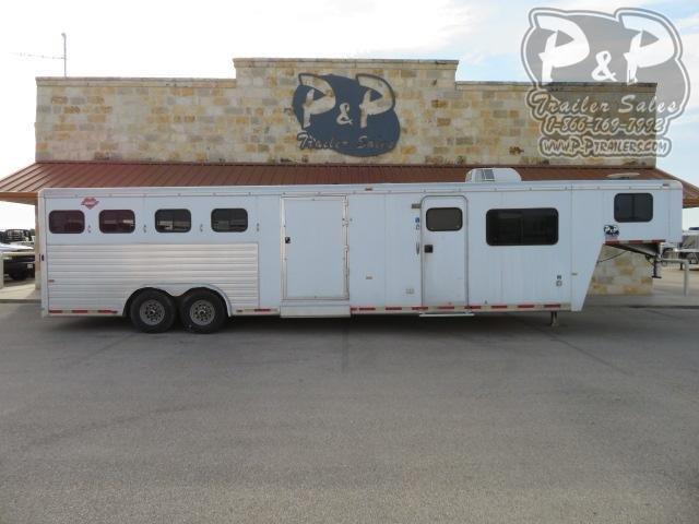 2001 Hart Trailers 8414 4 Horse Slant Load Trailer 14 FT LQ