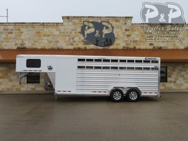2020 Cimarron Trailers Lonestar LS20GFTR 20 ' Livestock Trailer