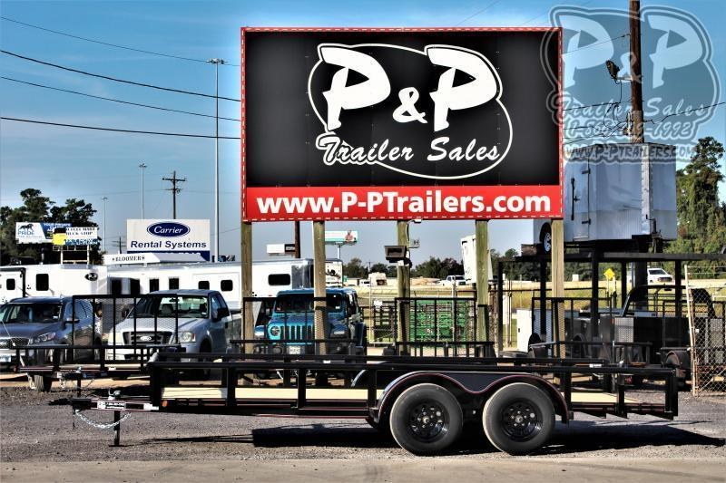 "2021 P and P PPTA16X83LDSRPT 83"" x 16 ' Utility Trailer"