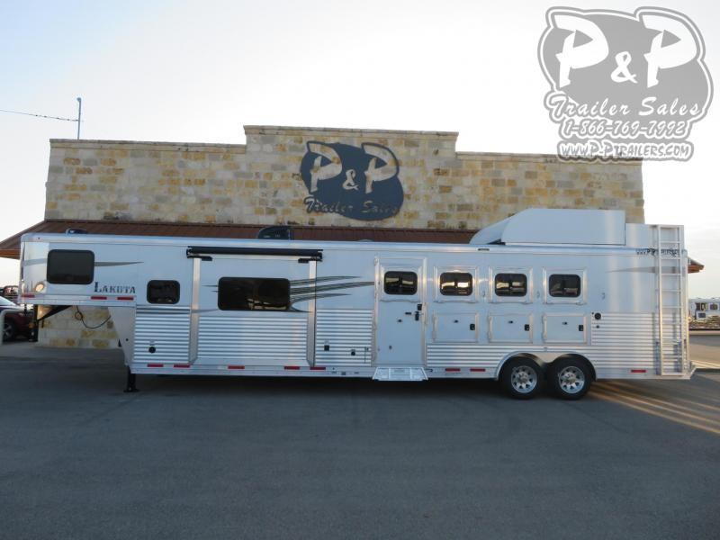 2020 Lakota Charger C8413SRRSL 4 Horse Slant Load Trailer 13 FT LQ With Slides w/ Ramps