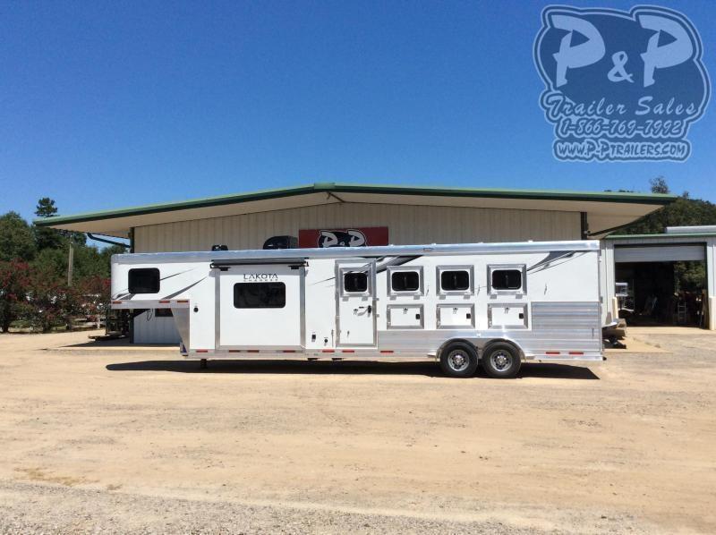2021 Lakota Charger C411 4 Horse Slant Load Trailer 11 FT LQ