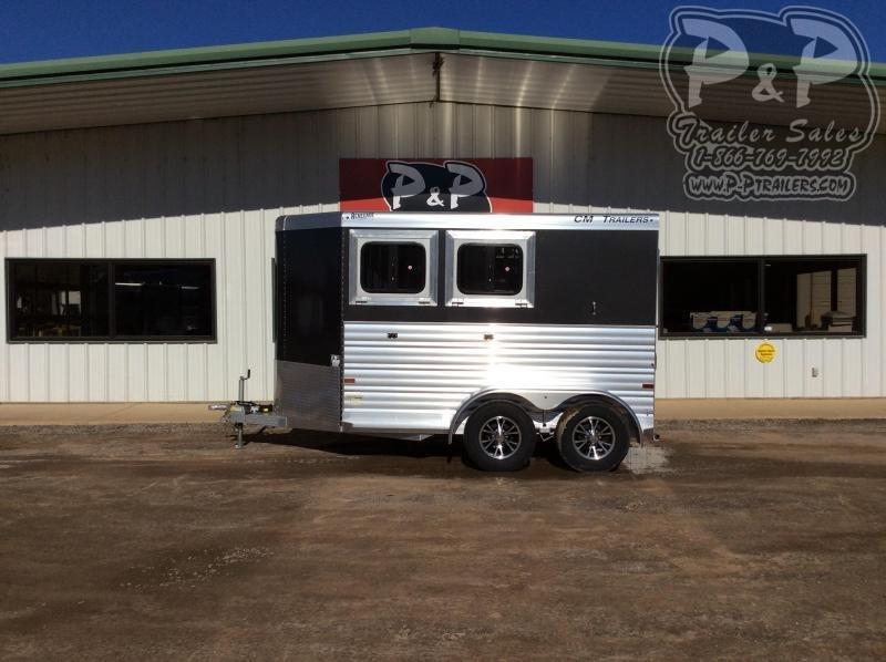 2021 CM CMH5042-13 Renegade 2 Horse Slant Load Trailer