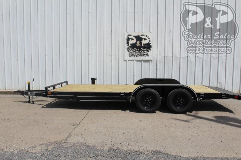 """2020 P and P PPWFCH18X83GDSR *** 18' x 83"""" *** Car Hauler Flatbed Trailer"""