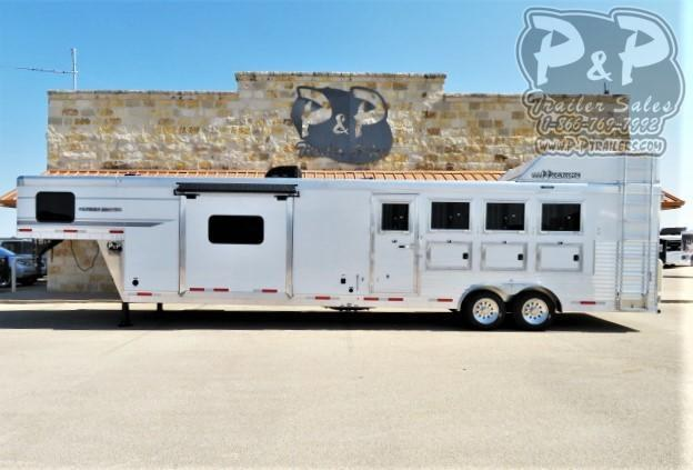 2021 SMC Horse Trailers Patriot SP8415SSR 4 Horse Slant Load Trailer 15 FT LQ With Slides
