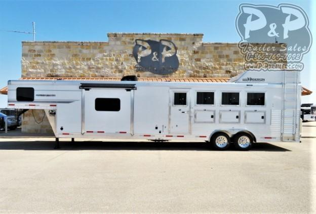 2021 SMC Horse Trailers Patriot SP8415SSR 4 Horse Slant Load Trailer 15 FT LQ With Slides